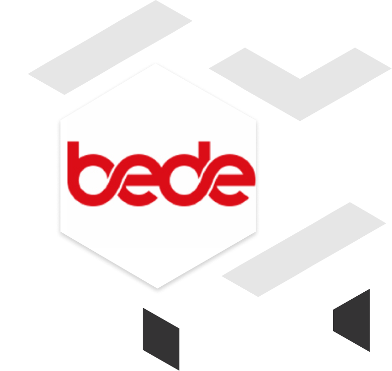 Bede client brand logo with geometric shapes