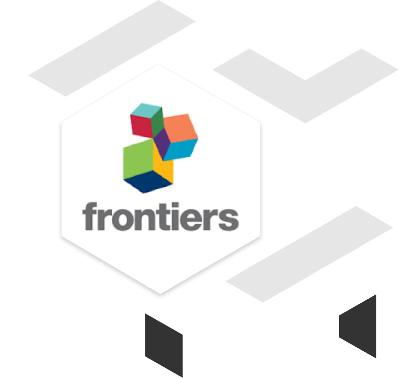 frontiers client brand logo with geometric shapes