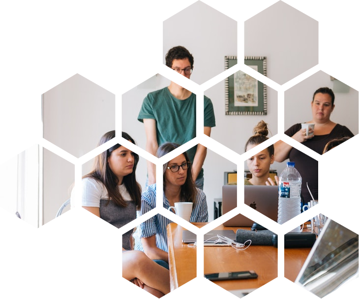 honeycomb pattern picture work employee meeting