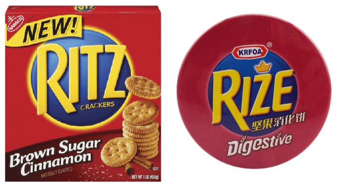 Ritz compared to Rize trade marks