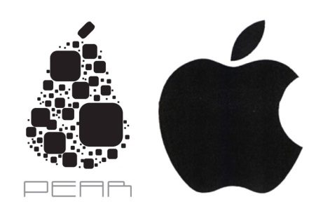apple and pear logos