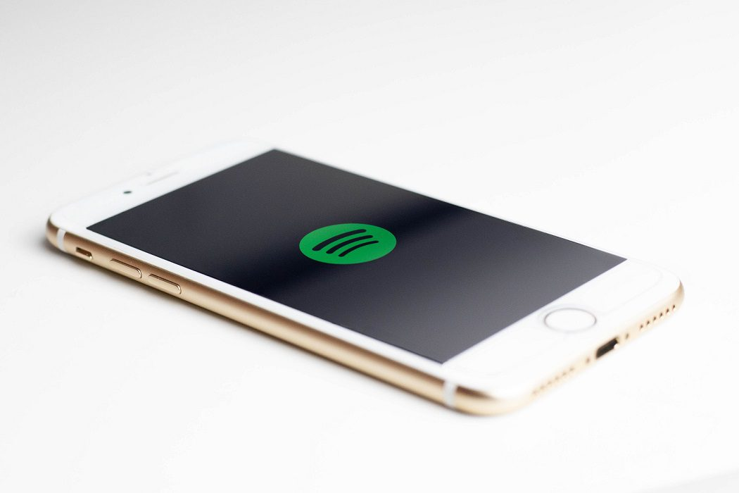 phone with music streaming icon
